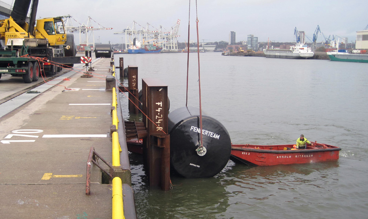 EVA foam filled fender used for protect ship and dock
